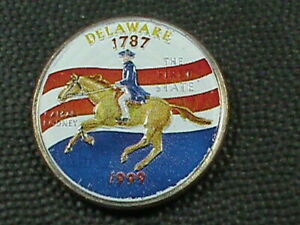 UNITED STATES   25 CENTS  1999 D   UNC  COLORIZED  DELAWARE  COMBINED SHIPPING
