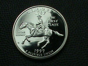 UNITED STATES 25 CENTS 1999 S PROOF DELAWARE COMBINED SHIP .10 CENT US 29 INT