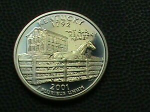 UNITED STATES  25 CENTS  2001 S  PROOF  KENTUCKY  RAINBOW  COMBINED SHIPPING