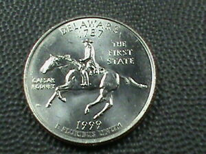 UNITED STATES  25 CENTS  1999 P  DELAWARE  UNC   $ 3.99 MAXIMUM SHIPPING IN USA