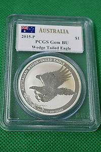 2015 P PCGS GEM BU WEDGE TAILED EAGLE $1 AUSTRALIA COIN
