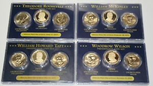 4 2013 PRESIDENTIAL SETS P D S PROOF FIRST DAY ISSUE WILSON ROOSEVELT TAFT MCKIN