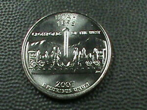 UNITED STATES 25 CENTS  2007 P UNC  UTAH  COMBINED SHIP .10 CENTS USA  .29 INT