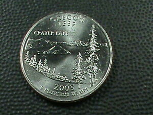 UNITED STATES 25 CENTS 2005 D UNC OREGON COMBINED SHIPPING .10 CENTS USA .29 INT