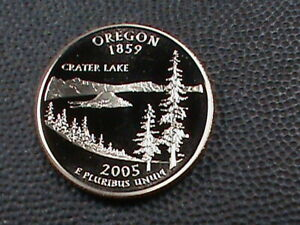 UNITED STATES 25 CENTS 2005 D PROOF OREGON COMBINED SHIP .10 CENTS USA .29 INT