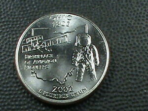UNITED STATES  25 CENTS 2002 P UNC  OHIO COMBINED SHIPPING .10 CENTS USA .29 INT