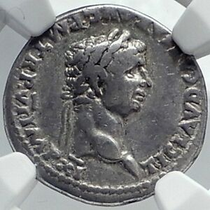 Click now to see the BUY IT NOW Price! CLAUDIUS  DENARIUS AUTHENTIC ANCIENT 46AD SILVER ROMAN COIN NGC I81778