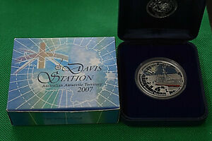Click now to see the BUY IT NOW Price! 2007 PERTH 1 OZ. DAVIS STATION .999 FINE SILVER COIN W/COA & DISPLAY BOX