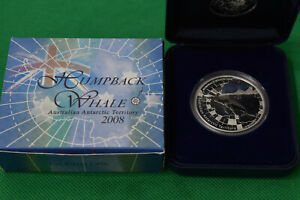Click now to see the BUY IT NOW Price! 2008 PERTH 1 OZ. HUMPBACK WHALE .999 FINE SILVER COIN W/COA & DISPLAY BOX