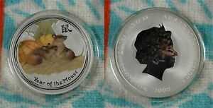 Click now to see the BUY IT NOW Price! 2008 PERTH MINT LUNAR YEAR MOUSE 1 OZ .999 SILVER COLORIZED COIN   EBAY BUX