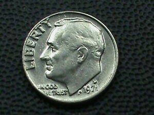 UNITED STATES 10 CENTS 1971 D  UNC COMBINED SHIP .10 CENTS USA .29 INTERNATIONAL