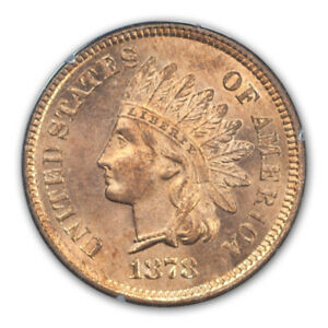 Click now to see the BUY IT NOW Price! 1878 1C INDIAN CENT   TYPE 3 BRONZE PCGS MS65RD  EAGLE EYE
