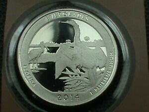 UNITED STATES  25 CENTS  2014 S  PROOF  EVERGLADES  COMBINED SHIP .10 CENTS USA