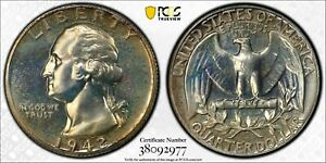 Click now to see the BUY IT NOW Price! 1942 PCGS PF 68 WASHINGTON QUARTER  EXCEPTIONAL PRESERVATION  GLORIOUS COLOR  PQ