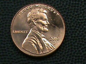 UNITED STATES 1 CENT  2010 D  UNC  COMBINED SHIP .10 CENTS USA .29 INTERNATIONAL