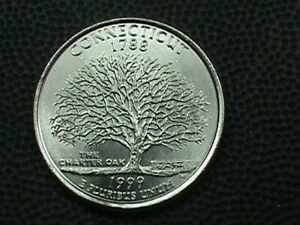 UNITED STATES 25 CENTS 1999 D UNC CONNECTICUT COMBINED SHIP10 CENTS USA 29 INT