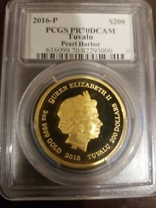 Click now to see the BUY IT NOW Price! 2016 PCGS PR70 DCAM TUVALU PEARL HARBOR 2 OZ LOW MINTAGE