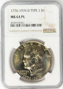 Click now to see the BUY IT NOW Price! 1776 1976 D TYPE 1 EISENHOWER DOLLAR   NGC MS64 PL