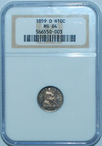 Click now to see the BUY IT NOW Price! 1859 O NGC MS64 LIBERTY SEATED HALF DIME