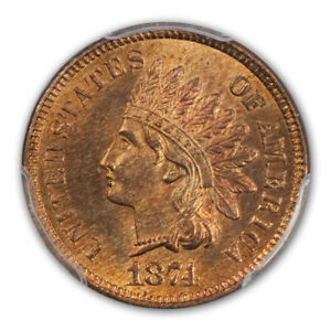 Click now to see the BUY IT NOW Price! 1874 1C INDIAN CENT   TYPE 3 BRONZE PCGS MS66 RD  CAC