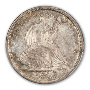 Click now to see the BUY IT NOW Price! 1842 50C MEDIUM DATE LIBERTY SEATED HALF DOLLAR PCGS MS66  CAC