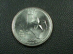 UNITED STATES 25 CENTS 2004 P UNC TEXAS COMBINED SHIPPING .10 CENTS USA  .29 INT