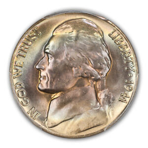 Click now to see the BUY IT NOW Price! 1941 D 5C JEFFERSON NICKEL PCGS MS68FS