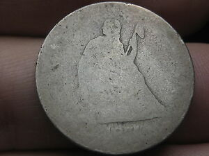 1877 P SILVER SEATED LIBERTY QUARTER LOWBALL HEAVILY WORN PO1 CANDIDATE?