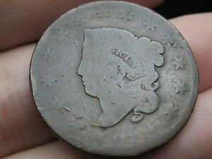 1819 MATRON HEAD LARGE CENT PENNY  SMALL DATE LOWBALL