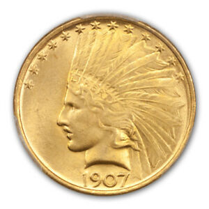 Click now to see the BUY IT NOW Price! 1907 $10 NO MOTTO INDIAN HEAD PCGS MS66