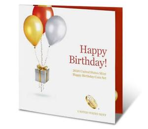 Click now to see the BUY IT NOW Price! 2020 S US MINT HAPPY BIRTHDAY PROOF 5 COIN SET  20RE  WITH GIFT CARD FOLDER