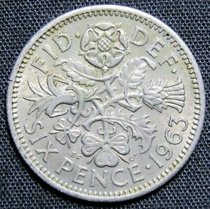 1963 GREAT BRITAIN 6 PENCE COIN