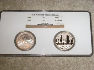 Click now to see the BUY IT NOW Price! 2010 W DISABLED VETERANS COMMEMORATIVE SILVER DOLLARS
