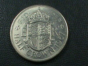 GREAT BRITAIN 1/2 CROWN 1967 UNC  COMBINED SHIP .10 CENTS USA  .29 INTERNATIONAL