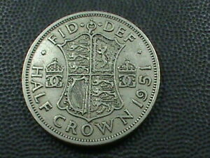 GREAT BRITAIN 1/2 CROWN 1951  COMBINED SHIPPING .10 CENTS USA  .29 INTERNATIONAL