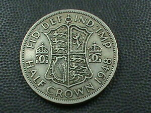 GREAT BRITAIN 1/2 CROWN 1948  COMBINED SHIPPING .10 CENTS USA  .29 INTERNATIONAL