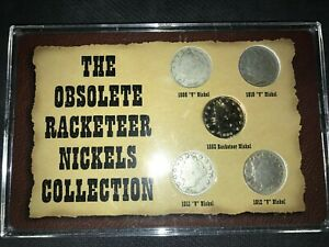 THE OBSOLETE RACKETEER V NICKELS COLLECTION 1883 1909 1910 1911 1912