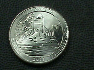 UNITED STATES  25 CENTS  2011 D  VICKSBURG  UNC COMBINED SHIPPING .10 CENTS USA