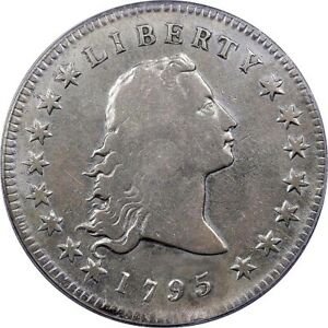 NGC 1795 FLOWING HAIR DOLLAR SILVER PLUG B 1 VF GREAT RARIETY AND SELL'S PRICE