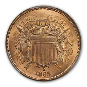 Click now to see the BUY IT NOW Price! 1865 2C FANCY 5 TWO CENT PIECE PCGS MS67RD