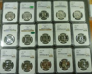Click now to see the BUY IT NOW Price! COMPLETE SET OF PROOF FRANKLIN HALF DOLLARS 1950 1963 ALL NGC PF67