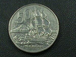 NEW ZEALAND  50 CENTS  1978  COMBINED SHIPPING .10 CENTS USA .29 INTERNATIONAL