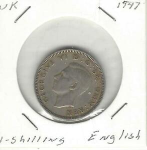 GREAT BRITAIN / UNITED KINGDOM 1 SHILLING 1947 ENGLISH CREST