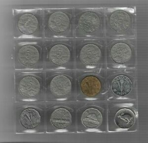 16X VINTAGE CANADA 5 CENT NICKELS   1922   1967 CENTENNIAL 1943 TOMBAC VICTORY