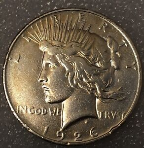 1926  USA PEACE SILVER ONE 1 DOLLAR FREE COMBINED SHIPPING.