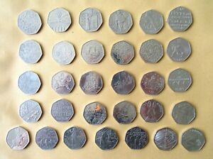 50P COINS   WOMEN'S VOTE JEMIMA PUDDLEDUCK OLYMPICS KEW GARDENS   FIFTY