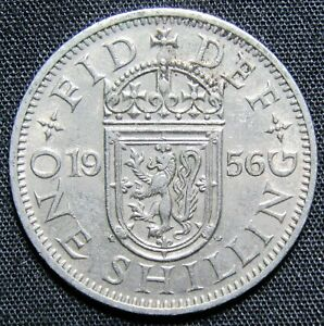 1956 GREAT BRITAIN 1 SHILLING COIN