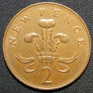 1971 GREAT BRITAIN 2 PENCE COIN