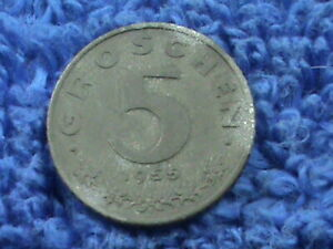 AUSTRIA  5 GROSCHEN   1955   COMBINED SHIPPING  .10 CENTS USA  .29 INTERNATIONAL