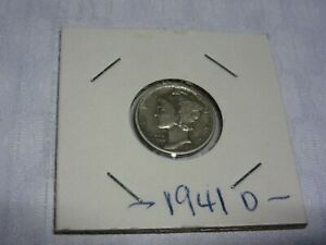 1941D MERCURY DIME LY FINE CONDITION  ACCEPT BEST OFFERS
